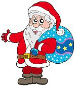 Santa Claus with more gifts