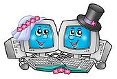Cute wedding computers