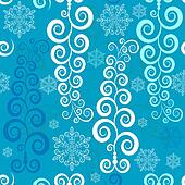 Seamless white-blue christmas pattern (vector)