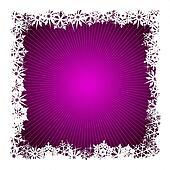 Square purple snowflake background