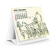 November 2014 desk horse calendar