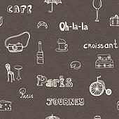 Perfect Paris seamless pattern with