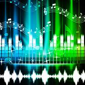 Music Background Shows Songs Harmony And Melody