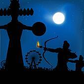 dasshera festival - the burning of the ravana