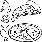 Oven Kleurplaat Royalty Free Pizza Clip Art Gograph