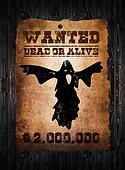 Wanted ghost- wild west poster