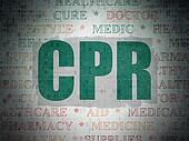 Healthcare concept: CPR on Digital Paper background