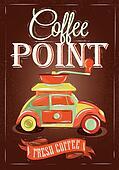 Retro poster coffee point