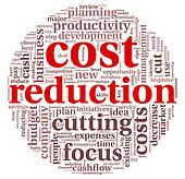 Costs reduction concept