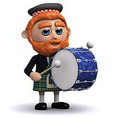 3d Scotsman bangs the drum