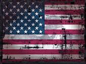 grungy us flag