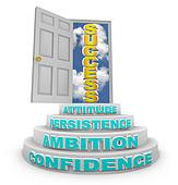 Steps Rising to Success - Open Door