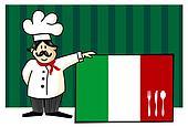 Chef of italian cuisine