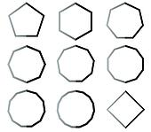 Polygon shapes set illustration