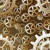 Steampunk gears background