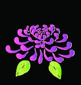 Purple lotus flower logo