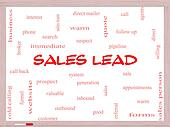 Sales Lead Word Cloud Concept on a Whiteboard