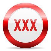 xxx glossy web icon
