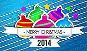 Baubles Merry Christmas Art Paper