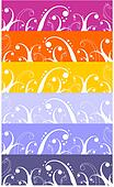 Waves and curls pattern background