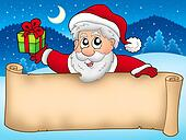 Banner with cute Santa Claus