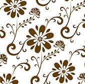 brown flower patterns