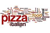 Pizza word cloud