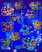 colorfull  fishes in marine environment