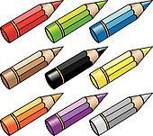 cartoon pencils