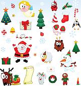 Christmas symbols collection
