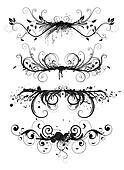 Grunge design floral elements