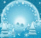 fantasy christmas landscape
