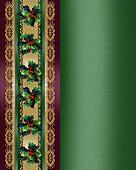 Christmas Border Holly and ribbon elegant