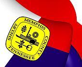 Flag of Memphis, USA.