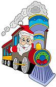Santa Claus on train