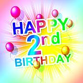 Happy Birthday Means Congratulation Celebration And Celebrating