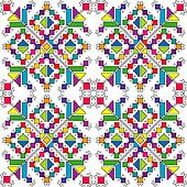Colorful ethnic ornaments