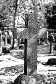 stone cross tombstone