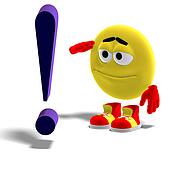 cool and funny emoticon says yes mr. exclamation mark