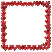 Valentines Border - Overlapping Hearts