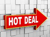 3d abstract cube wall arrow - hot deal