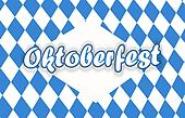 Bavaria Oktoberfest festival fresh design blue color