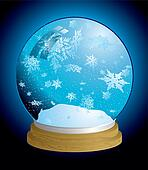 snow globe light
