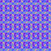 Blue Geometric Circle Pattern