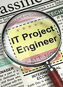 Job Opening IT Project Engineer. 3D.