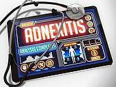 Adnexitis on the Display of Medical Tablet.