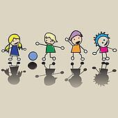 Happy little children