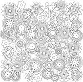Flowers background catcher for coloring book