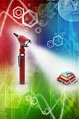 Otoscope and medical text books
