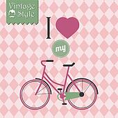Vintage hipster bicycle background